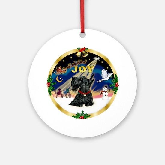 Gold rim - JOY - Scotty Ornament (Round)