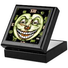 Black Cat 13 Clock Halloween Keepsake Box