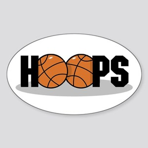 Basketball Hoops Oval Sticker