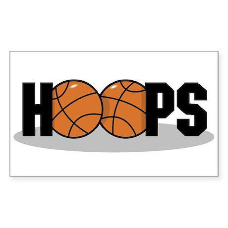 Basketball Hoops Rectangle Sticker