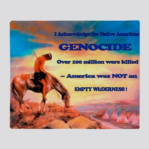 Genocide Throw Blanket