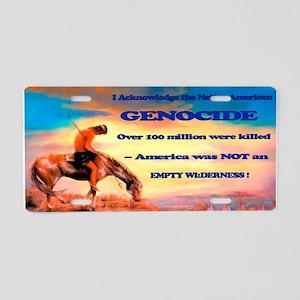 Genocide Aluminum License Plate
