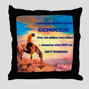 Genocide Throw Pillow