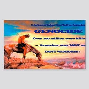 Genocide Sticker (Rectangle)