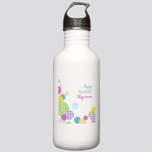 Happy Birthday Step Mom Sports Water Bottle