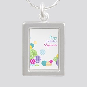 Happy Birthday Step Mom Necklaces