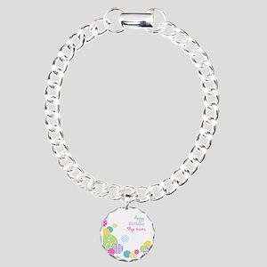 Happy Birthday Step Mom Charm Bracelet, One Charm