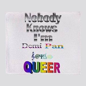 Nobody Knows I'm Demi Pan Sapio QUEE Throw Blanket