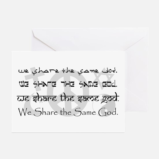 """""""We Share the Same God"""" Greeting Cards (Pk of 20)"""