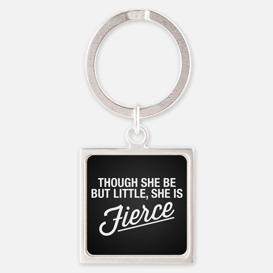 She Is Fierce Square Keychain