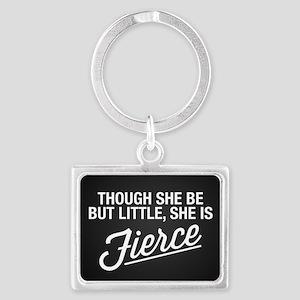 She Is Fierce Landscape Keychain