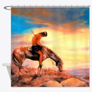 End of the Trail Shower Curtain