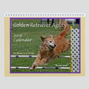 Golden Retriever Agility 2016 Wall Calendar