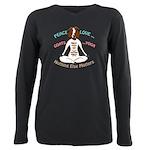 PEACE LOVE GOATS YOGA | GetYerGoat™ T-Shirt