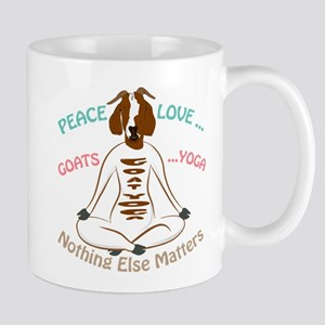 PEACE LOVE GOATS YOGA | GetYerGoat™ Mugs