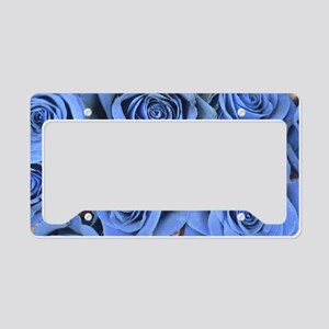 Blue Roses License Plate Holder