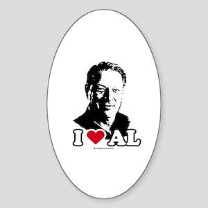 I Love Al Gore Oval Sticker