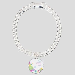Happy Birthday Wife Charm Bracelet, One Charm