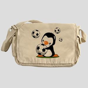 Soccer Penguin Messenger Bag