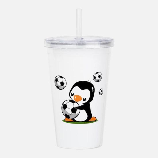 Soccer Penguin Acrylic Double-wall Tumbler