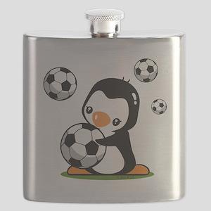 Soccer Penguin Flask