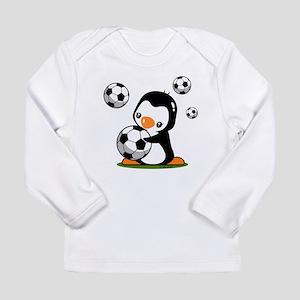 Soccer Penguin Long Sleeve T-Shirt