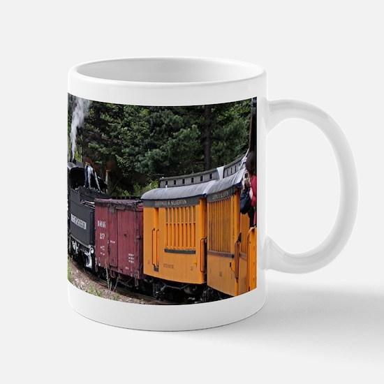Steam train & river, Colorado Mugs