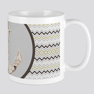 beach anchor sage mint chevron Mugs