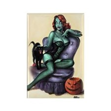 Halloween Zombie Girl Pin Up Rectangle Magnet