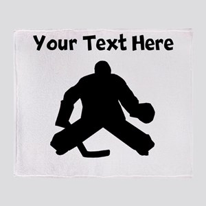 Hockey Goalie Throw Blanket