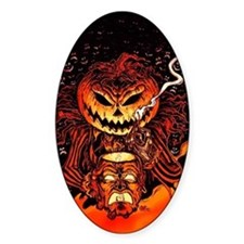 Halloween Pumpkin King Sticker (Oval)