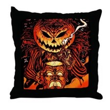 Halloween Pumpkin King Throw Pillow