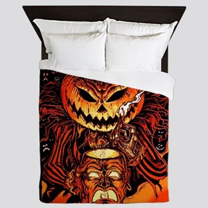 Halloween Pumpkin King Queen Duvet