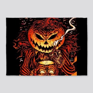 Halloween Pumpkin King 5'x7'Area Rug