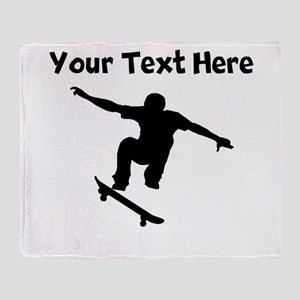 Skateboarder Throw Blanket