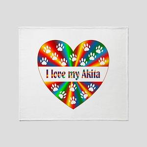 Akita Love Throw Blanket