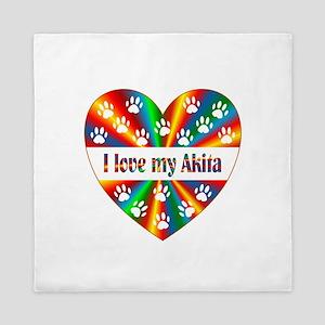 Akita Love Queen Duvet