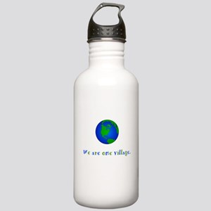 We Are One Village Gifts Water Bottle