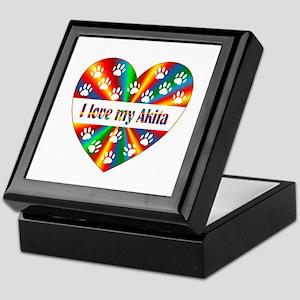 Akita Love Keepsake Box