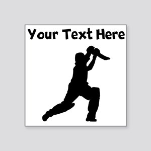 Cricket Player Sticker