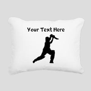 Cricket Player Rectangular Canvas Pillow