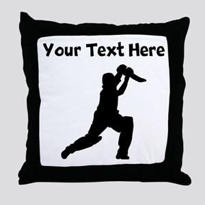 Cricket Player Throw Pillow