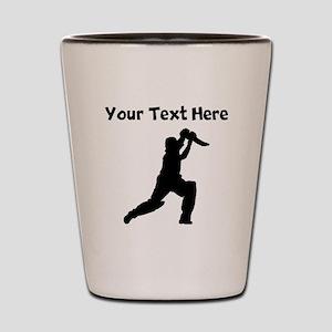 Cricket Player Shot Glass