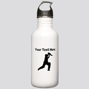 Cricket Player Water Bottle