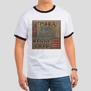 scripts burlap primitive christmas T-Shirt