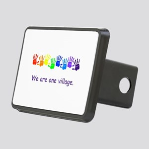 We Are One Village Rainbow Gifts Hitch Cover