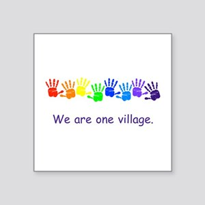 We Are One Village Rainbow Gifts Sticker