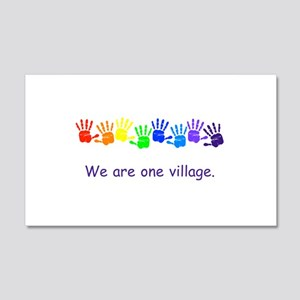 We Are One Village Rainbow Gifts Wall Decal