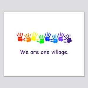 We Are One Village Rainbow Gifts Posters