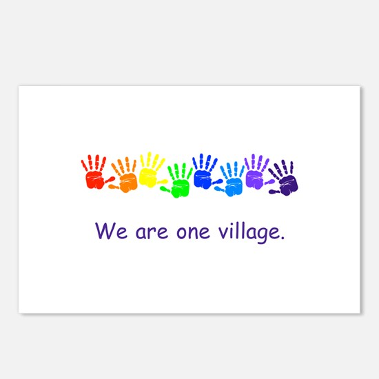 We Are One Village Rainbow Gifts Postcards (Packag